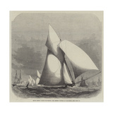 Royal London Yacht-Club Match, the Phryne Winning at Gravesend Reproduction procédé giclée par Edwin Weedon