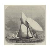 Royal London Yacht-Club Match, the Phryne Winning at Gravesend Giclee Print by Edwin Weedon