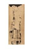 Standing Girl, C.1908-09 Giclée-tryk af Egon Schiele