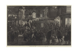 New-Years Fete in Paris, the Boulevards on a Bal D'Opera Night Giclee Print by Felix Regamey