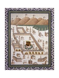 Kaaba, Muhammad's Tomb in Mecca from Volume by Emile Prisse D'Avennes (1807-1879) Reproduction procédé giclée par Emile Prisse d'Avennes