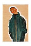 Boy in Green Coat, 1910 Impressão giclée por Egon Schiele
