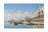 The Doge's Palace and Santa Maria Della Salute, 1896 Giclée-tryk af Federico del Campo