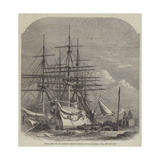 Hospital-Ships for the Abyssinian Expedition Fitting Out in the Victoria Docks Giclee Print by Edwin Weedon