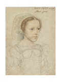 Portrait of Mary, Queen of Scots, C.1549 Giclée-tryk af Francois Clouet