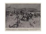 The British Mission to Kano, the British Force Withstanding a Cavalry Charge at Ugu Giclée-tryk af Frank Craig