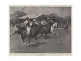 A New Polo Ground for Londoners, a Match at the Wimbledon Park Polo Club Giclée-Druck von Frank Craig