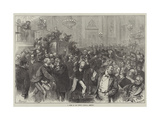 A Scene in the French National Assembly Giclee Print by Felix Regamey