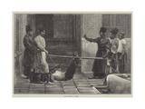 The Bastinado in Persia Giclee Print by Felix Regamey