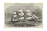 The Danish Clipper-Ship, the Cimber Reproduction procédé giclée par Edwin Weedon