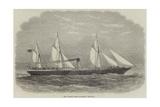 The Dundee Screw-Steamship Hibernia Giclee Print by Edwin Weedon