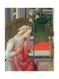 The Annunciation, Detail of the Angel Gabriel Giclée-tryk af Fra Filippo Lippi