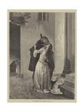 Il Bacio Giclee Print by Francesco Hayez