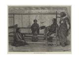 Girls Weaving Sarango in Java Giclee Print by Felix Regamey