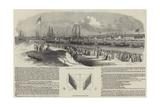 Opening of West Hartlepool New Dock Giclee Print by Edwin Weedon