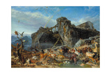 After the Flood: the Exit of Animals from the Ark, 1867 Giclée-tryk af Filippo Palizzi