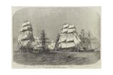 The Baltic Fleet Leaving Spithead Reproduction procédé giclée par Edwin Weedon