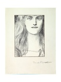 Head of a Woman, 1897 Giclee Print by Fernand Khnopff