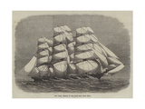 The Ariel, Winner of the Ocean-Race from China Reproduction procédé giclée par Edwin Weedon