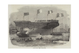 Launch of the Torino, at Blackwall Reproduction procédé giclée par Edwin Weedon