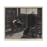 Hard-Hit! His Masterpiece Rejected at the Royal Academy Gicléetryck av Francis Barraud