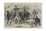 Ovation to the First Garibaldian Entered the Cafe Di Europa, Naples Giclée-Druck von Frank Vizetelly