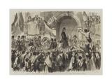 Entry of Victor Emmanuel into Naples Giclée-Druck von Frank Vizetelly
