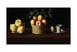 Still Life with Lemons, Oranges and a Rose, 1633 ジクレープリント : フランシスコ・デ・スルバラン