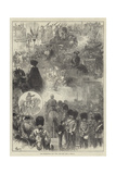 The Thanksgiving Day, What Was Seen from a Window Giclee Print by Felix Regamey