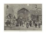 Sketches in Persia, Bazaar at Teheran Giclee Print by Felix Regamey