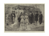 A Jewish Wedding, Marriage of Mr Leopold De Rothschild and Mademoiselle Marie Perugia Reproduction procédé giclée par Frank Dadd