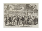 The First Visit of Victor Emmanuel to the Camp of the National Army at St Angelo Giclée-Druck von Frank Vizetelly