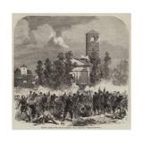 The War, Attack on the Church of Magenta Giclée-Druck von Frank Vizetelly