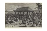 The Logunkayau-Wa, or Tail Dancers of Dahomey Giclee Print by Felix Regamey