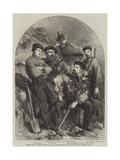Personal Staff of General Garibaldi at Caprera Giclée-Druck von Frank Vizetelly