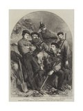 Personal Staff of General Garibaldi at Caprera Giclee Print by Frank Vizetelly