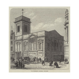 St Mildred's Church, Poultry Reproduction procédé giclée par Frank Watkins