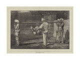 Native Travelling in India Giclee Print by Felix Regamey