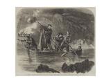 General Garibaldi Spearing Fish by Night Off Caprera Giclée-Druck von Frank Vizetelly