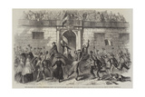 The Release of Political Prisoners from the Castellamare, Palermo, on 19 June Giclée-Druck von Frank Vizetelly