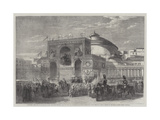 Triumphal Arch Erected at Naples During the Fetes Recently Held in That City Giclee Print by Frank Vizetelly