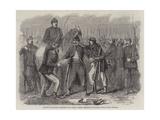Searching Neapolitan Prisoners at St Angelo Giclée-Druck von Frank Vizetelly