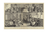 Egypt after the War, Lady Strangford's Hospital in Arabi's House, Cairo Giclée-Druck von Frederic Villiers