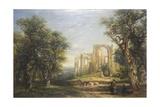 Furness Abbey Lámina giclée por Frederick Henry Henshaw