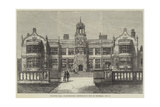 Ingestre Hall, Staffordshire, Destroyed by Fire on Thursday, 12 October Reproduction procédé giclée par Frank Watkins