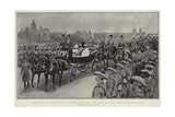 The Review of the Colonial Coronation Contingents on the Horse Guards Parade Giclee Print by Frederic De Haenen