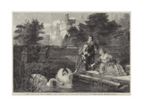 Hever Castle in the Time of Charles I Giclee Print by Frederick Goodall