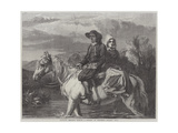 Brittany Peasants Fording a Stream Giclee Print by Frederick Goodall