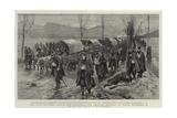 The War Between Servia and Bulgaria, the Servian Retreat on Nisch, 26 November Giclée-Druck von Frederic Villiers