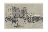 The Garrison of Kimberley, Parade of Kimberley Rifles before Colonel Kekewich Giclee Print by Frederic De Haenen